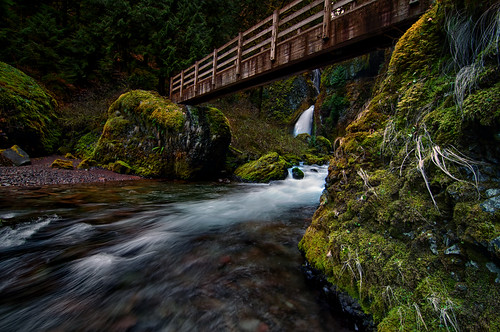 Wahclella Falls & Footbridge, Columbia River Gorge Oregon | by Project Dreamland