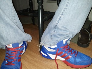Adidas Blue Red White Shoes