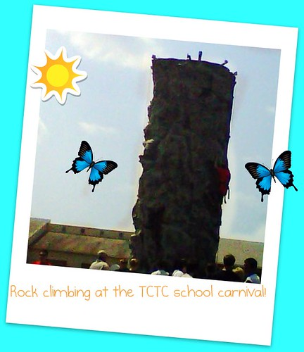 Rock climbing at the TCTC school carnival! | by 888lala