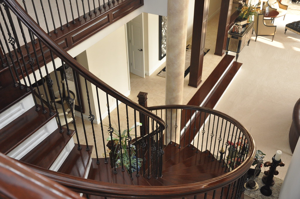... ChucksConstruction Custom Wood Stairs And Wrought Iron Railings | By  ChucksConstruction
