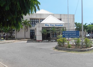 Outside the May Pen Hospital in Clarendon, Jamaica. Credit: Zadie Neufville/IPS | by IPS Inter Press Service
