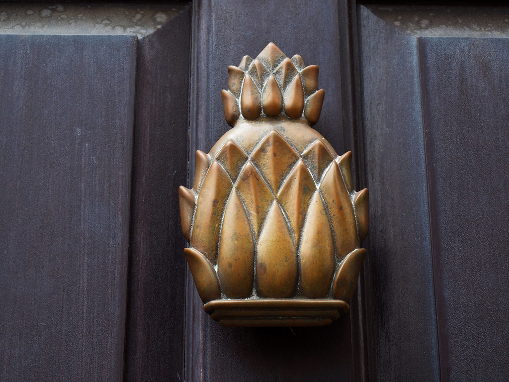 ... Pineapple Door Knocker, Charleston | By Redlioness