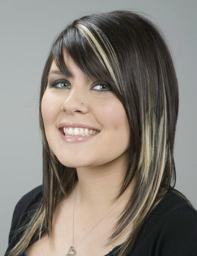 Long Dark Hair With Blond Highlights Long Brunette Hair Wi Flickr