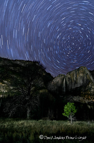 Star trails over Yosemite Falls | by David A Jenkins/ Prime Light