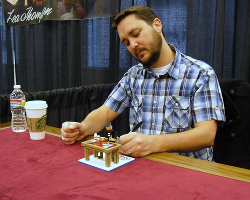 Lego model of Wil Wheaton signing a Lego model of Wil Wheaton ...actually being signed by Wil Wheaton! | by Ochre Jelly