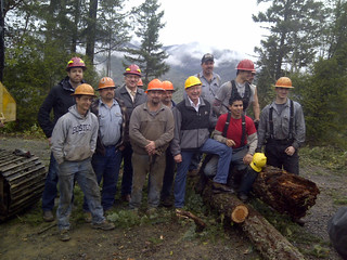 Secretary Salazar with Loggers at Pilot Joe timber sale near Medford, OR | by USFWS Pacific