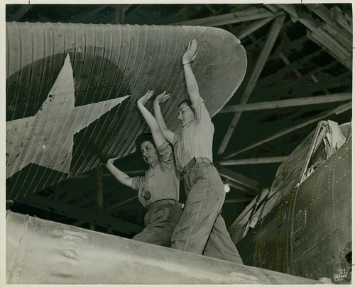 Women Marines Unfold Wing Section, circa 1943 | by Archives Branch, USMC History Division