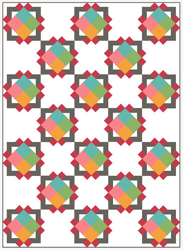 Cathedral Square quilt - blocks on point | by freshlypieced