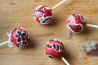 Red Bandana Cake Pops | by Sweet Lauren Cakes