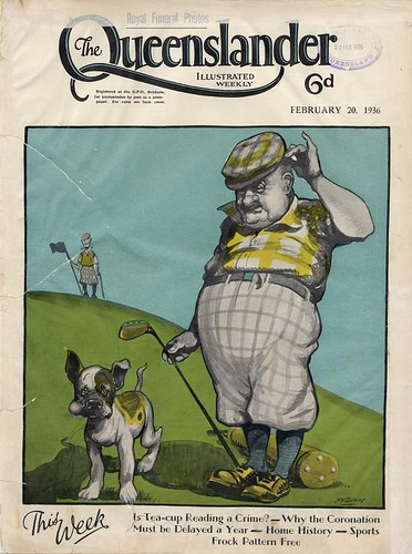 Illustrated front cover from The Queenslander, February 20, 1936 | by State Library of Queensland, Australia