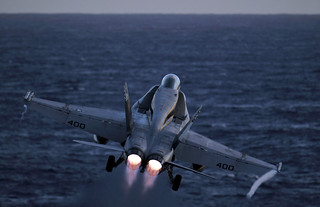 An F/A-18C Hornet launches. | by Official U.S. Navy Imagery