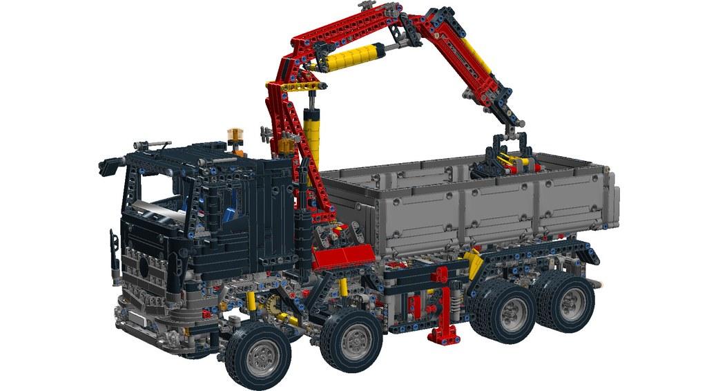 Lego Technic 42043 Mercedes Benz Arocs Black Cab Ryan Smith Flickr