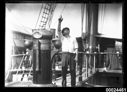 Man in civilian clothes standing on the deck of a ship, 1890-1953 | by Australian National Maritime Museum on The Commons
