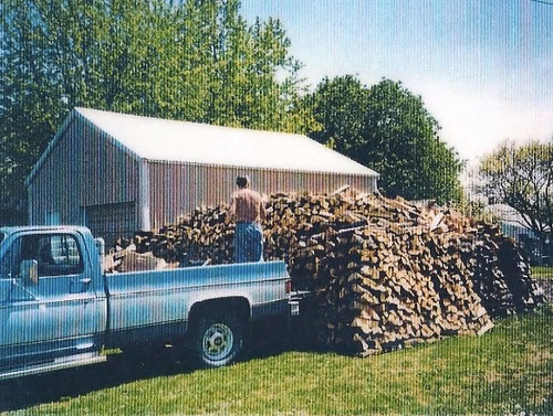 Grandpa and his Wood Stack | by goingslowly