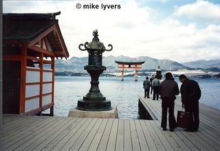 waiting for the miyajima ferry | by Mike Lyvers