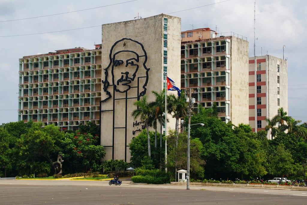 La Habana, Plaza de la Revolución buildings, Cuba