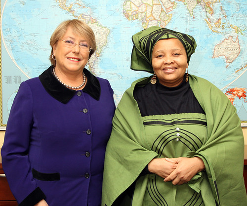 UN Women Executive Director Michelle Bachelet meets with Lulama Xingwana, Minister of Women, Children and People with Disabilities of the Republic of South Africa | by UN Women Gallery