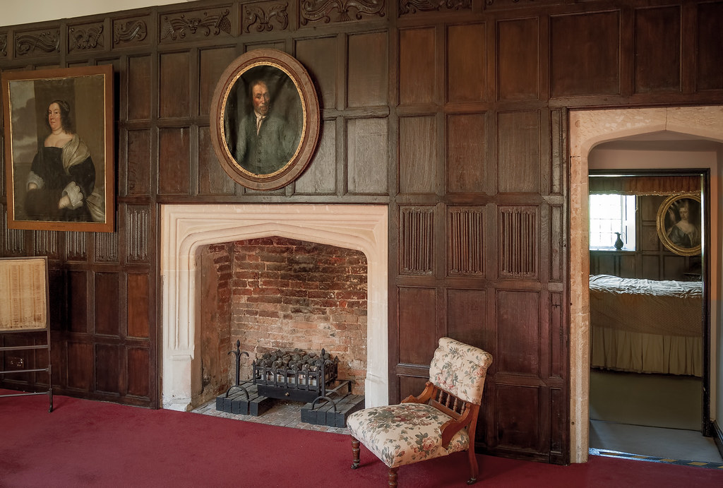 The Haunted Landing And Bedroom Of Elizabethan Littlecote House In Wiltshire Scene A
