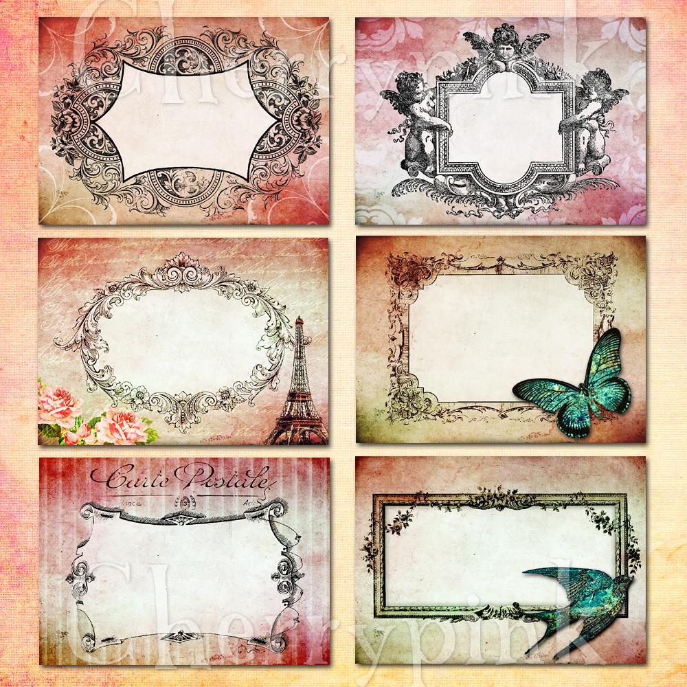 Digital Collage Sheet, Vintage Frame Printable images for …   Flickr