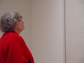 Contemplating a work by Agnes Martin | by Harwood Museum of Art