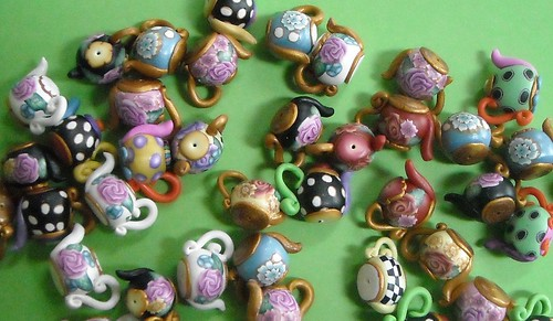 Teapot beads - polymer | by dixie103