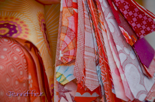View 2 of cut fabric for AMH Hexagon Quilt | by Jenniffier