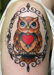 Owl tattoo | by Christopher Ian Henry, Tattooer.