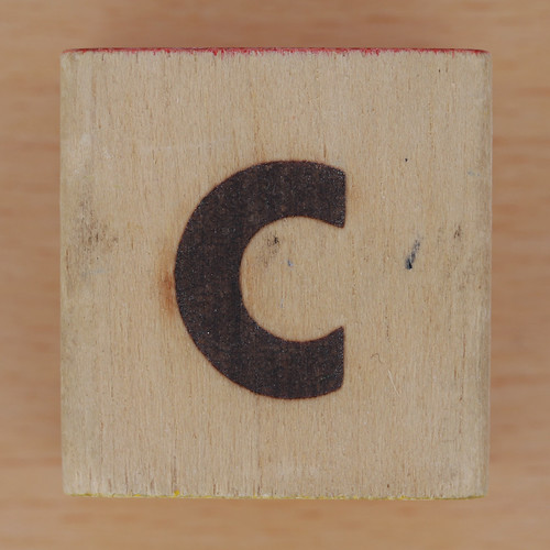 Wood Brick Scorched Letter c | by Leo Reynolds