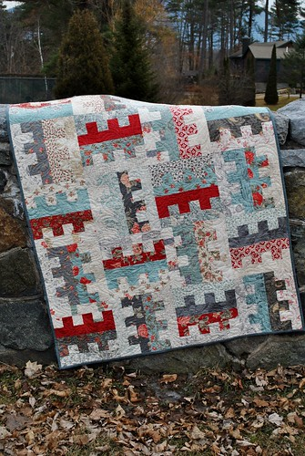 Key to My Heart Quilt Pattern by Sweet Jane, Etchings fabric by 3 Sisters | by sweetjanequilting