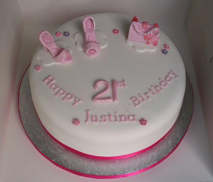 21st Birthday Cake With Shoes And Radley Handbag Janet Whitehead