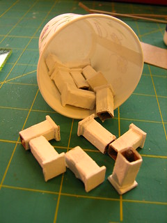 making posts for Putz houses | by christmasnotebook