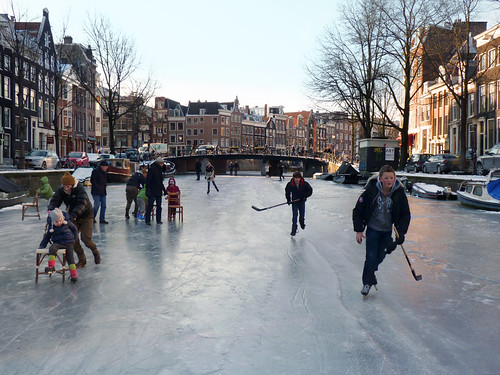 Children discover the joy of ice skating in Amsterdam | by B℮n