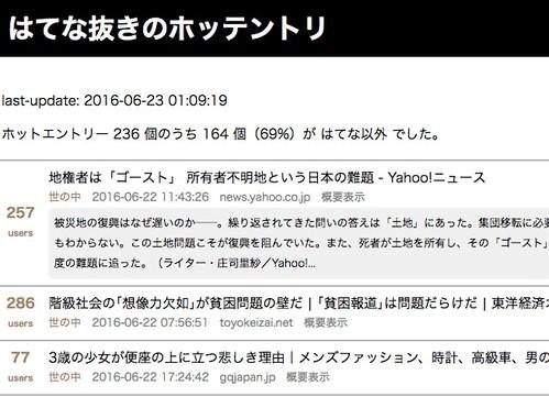 はてな抜きのホッテントリ 2016.6.23