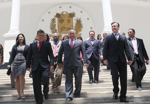Ministros del poder popular del gobierno bolivariano prese for Ministros del gobierno