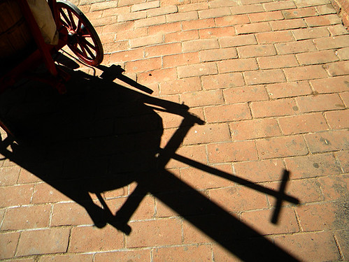 shadow of a baby carriage (Columbia State Historic Park.)