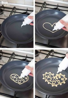 how to make lace heart pancakes | by BiteDelite.com