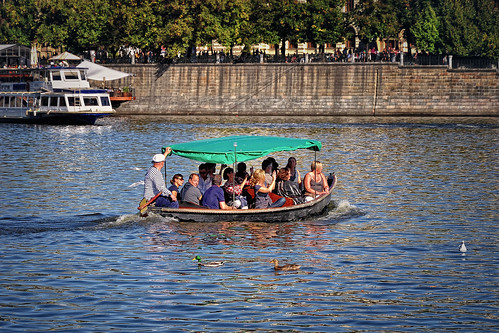 Boat trips on the Vltava River (Economy class). Prague | by Abariltur