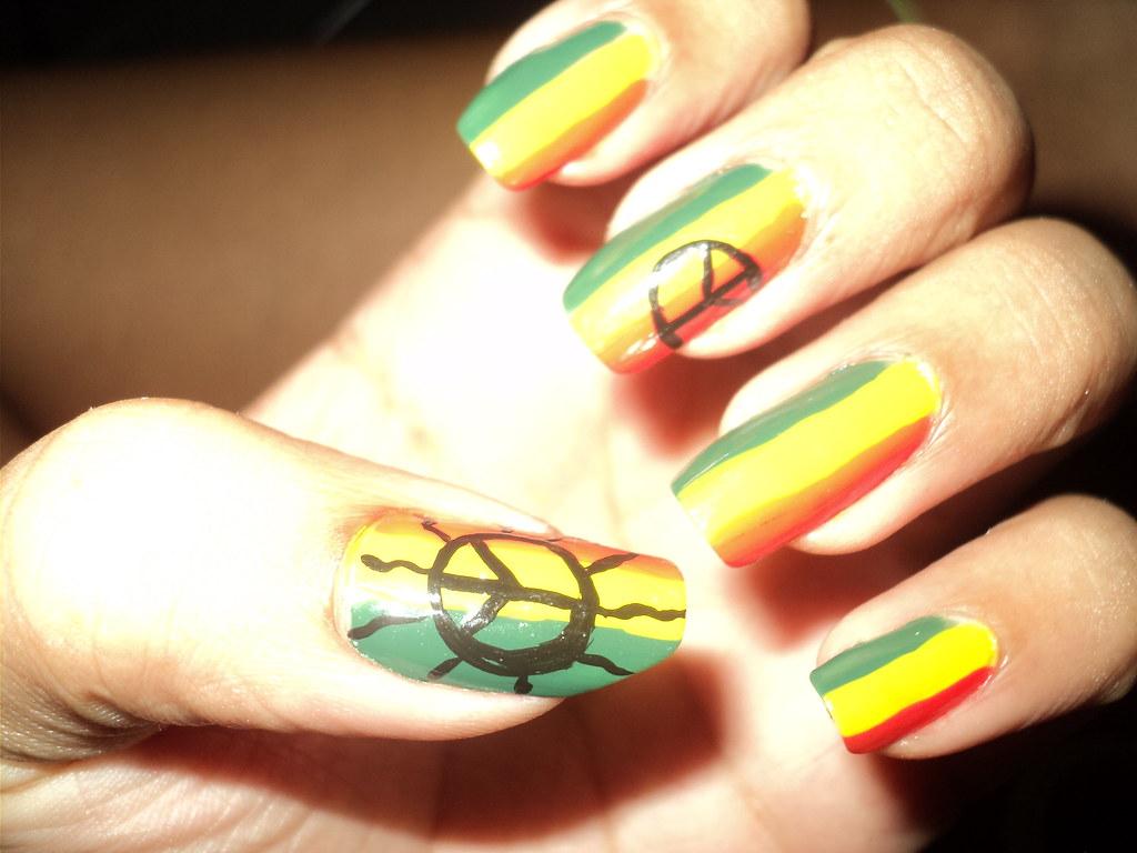 Unhas Reggae Nail Art Crissa M Flickr