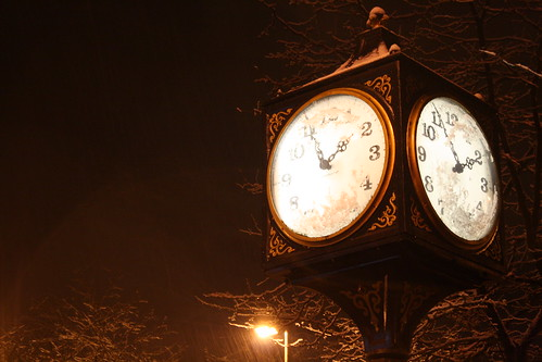 Downtown St. Johns - Snowy Clock | by ZnE's Dad