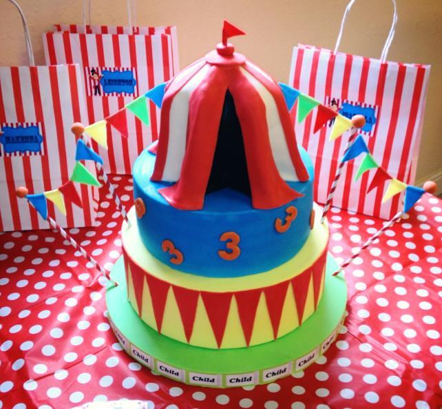 Carnival Birthday Cake Happy Birthday Sophie And Annabel Flickr
