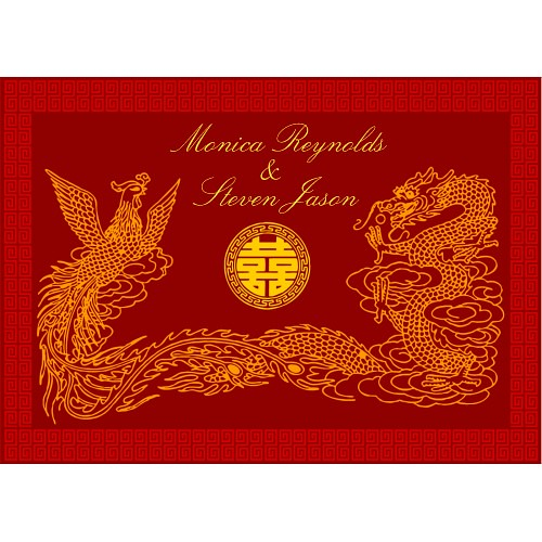 Oriental and Chinese dragon red double happiness RSVP wedd Flickr