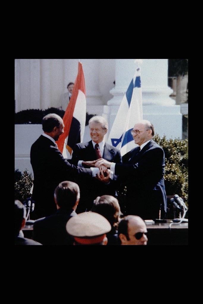 Peace Treaty Between Egypt And Israel The Triple Handshake Flickr