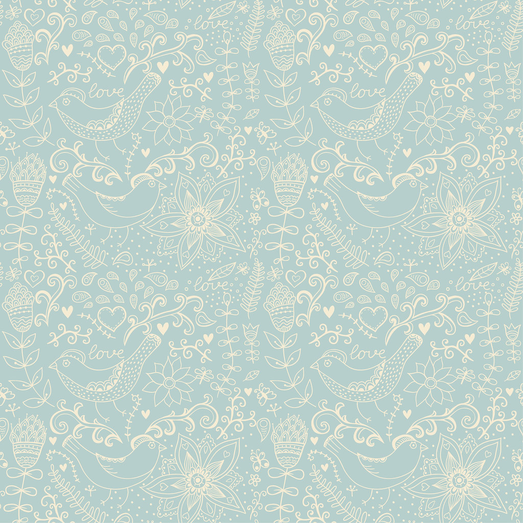 Seamless Pattern Can Be Used Texture With Flowers And Butterflies Endless Floral PatternSeamless