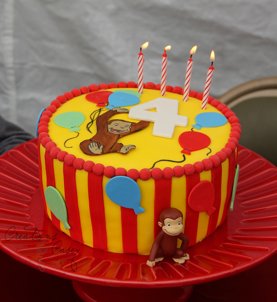 Curious George Birthday Cake Believe It Or Not We Never U Flickr