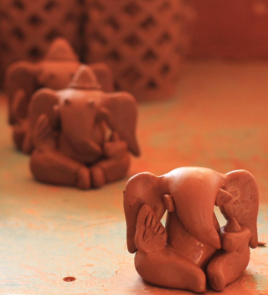 production line, clay ganesh idols | yusufmeherally/ vil… | flickr