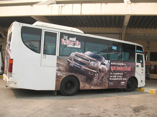 Chevy Colorado advertisement on city bus, ChiangMai Thailand | by rodeochiangmai