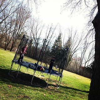 3/17/12 And, the Trampoline is back up! | by rayfamilyfarm