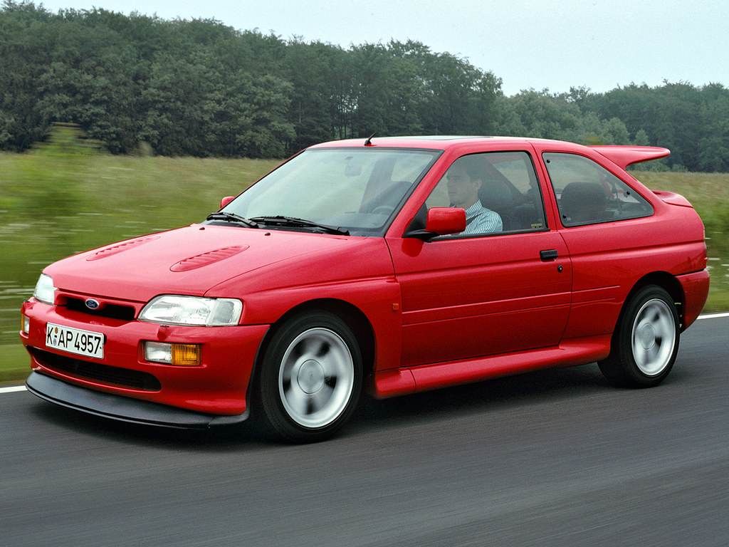 Image result for ford escort cosworth press