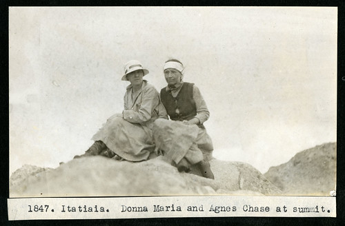 Mary Agnes Chase's Field Work in Brazil, Image No. 1847. Itatiaia. Donna Maria and Agnes Chase at summit. | by Smithsonian Institution