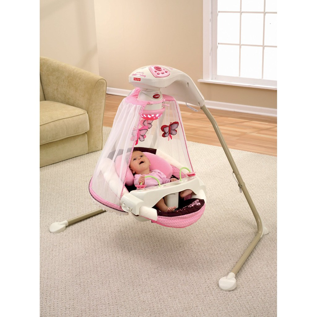 Fisher Price Papasan Cradle Swing Mocha Butterfly